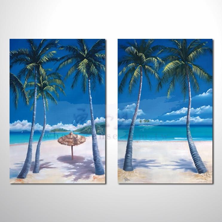 2拼美景人物 风景油画 装饰品 山水画 艺术品 插画 无框画 浮雕立体3d