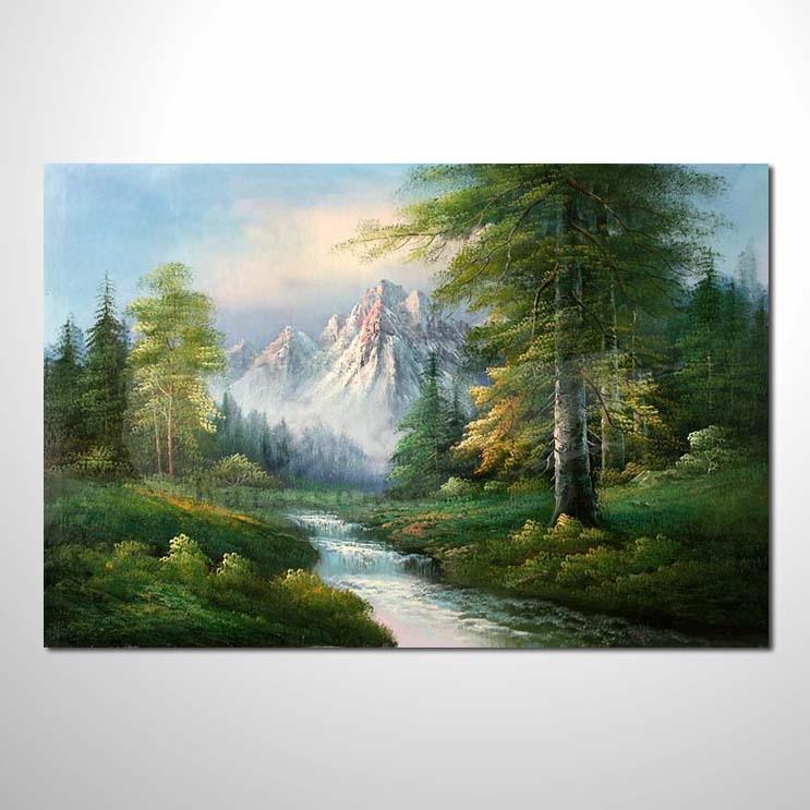 油画 四季原野山林62 风景 装饰品 山水画 艺术品 插画 无框画 森林之图片