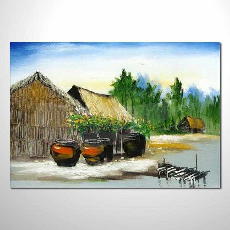 油画 越南景108 风景油画 装饰品 山水画 艺术品 插画